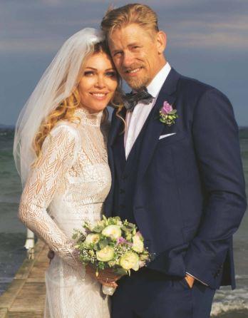 Kasper Schmeichel - zarif, Karısı Stine Gyldenbrand